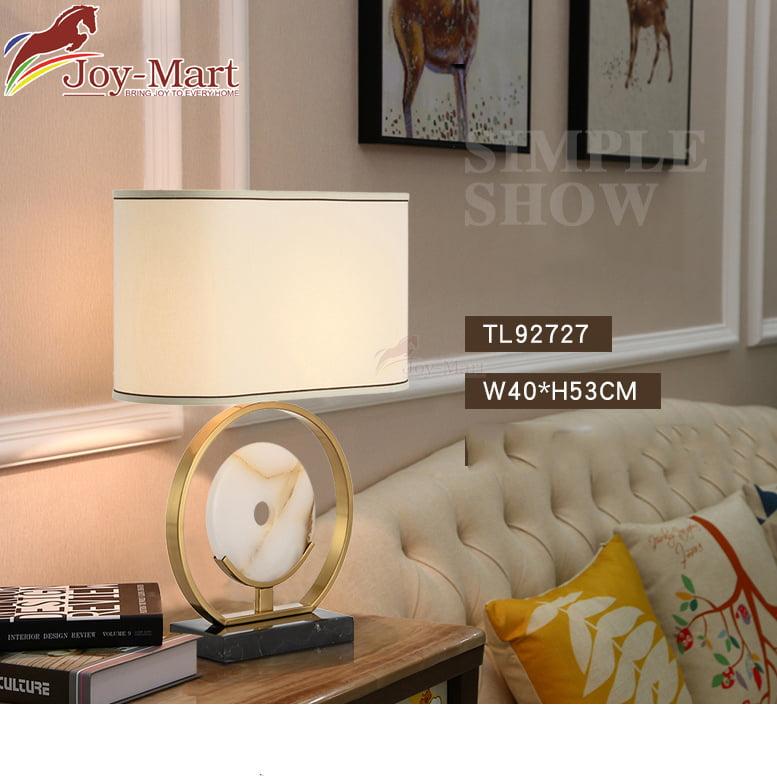 đèn để bàn phòng khách đá cẩm thạch