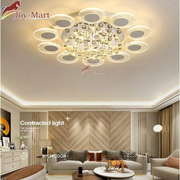 Đèn ốp trần pha lê sang trọng trang trí phòng khách MOP2012-800