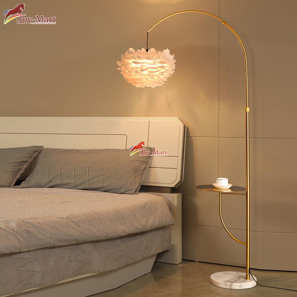 đèn cây lông vũ trang trí phòng ngủ ML5116