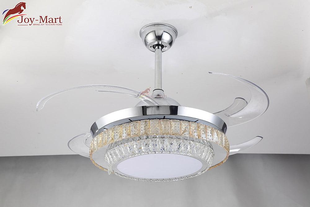 quạt trần đèn cánh cụp sang trọng cao cấp mqt2171
